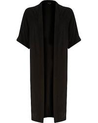 River Island Black Side Split Loose Kimono Jacket