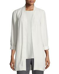 Eileen Fisher Silk Georgette Kimono Jacket Petite