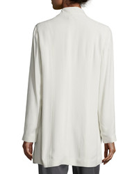 Eileen Fisher Silk Georgette Kimono Jacket Plus Size