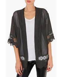 Topshop Lace Inset Kimono Jacket