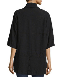 Johnny Was Tribal Half Sleeve Embroidered Kimono Jacket