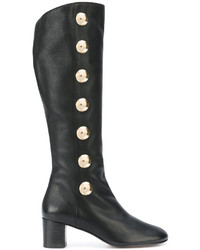 Chloé Black Orlando 55 Leather Knee Boots