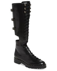Valentino Garavani Soul Rockstud Knee High Cutout Boot