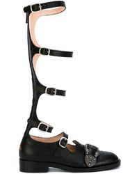 Gucci Queercore Brogue Knee Boots