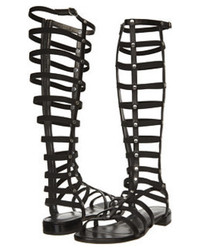 Black knee high gladiator sandals original 8777052
