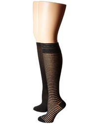 Steve Madden 2 Pack Crochet Knee High Knee High Socks Shoes