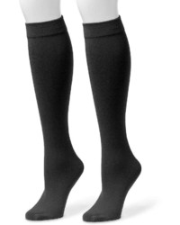 Muk Luks 2 Pk Fleece Lined Knee High Socks