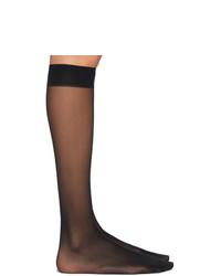 Wolford Black Individual 10 Knee High Socks