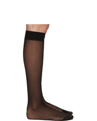 Wolford Black Individual 10 Knee High Socks