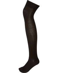 River Island Black Over The Knee Socks