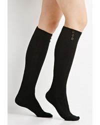 Forever 21 Buttoned Knee High Socks