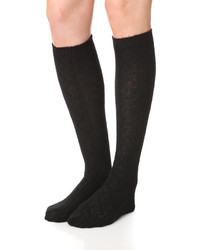 Free People Cable Knee High Socks