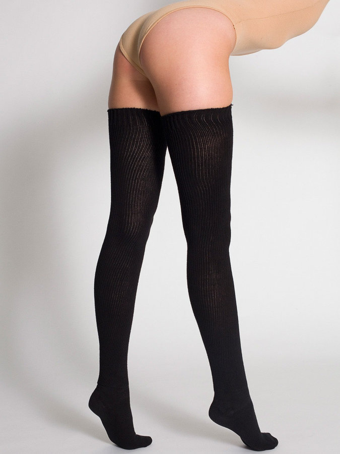 3d3946d7888f5 ... American Apparel Cotton Solid Thigh High Socks ...