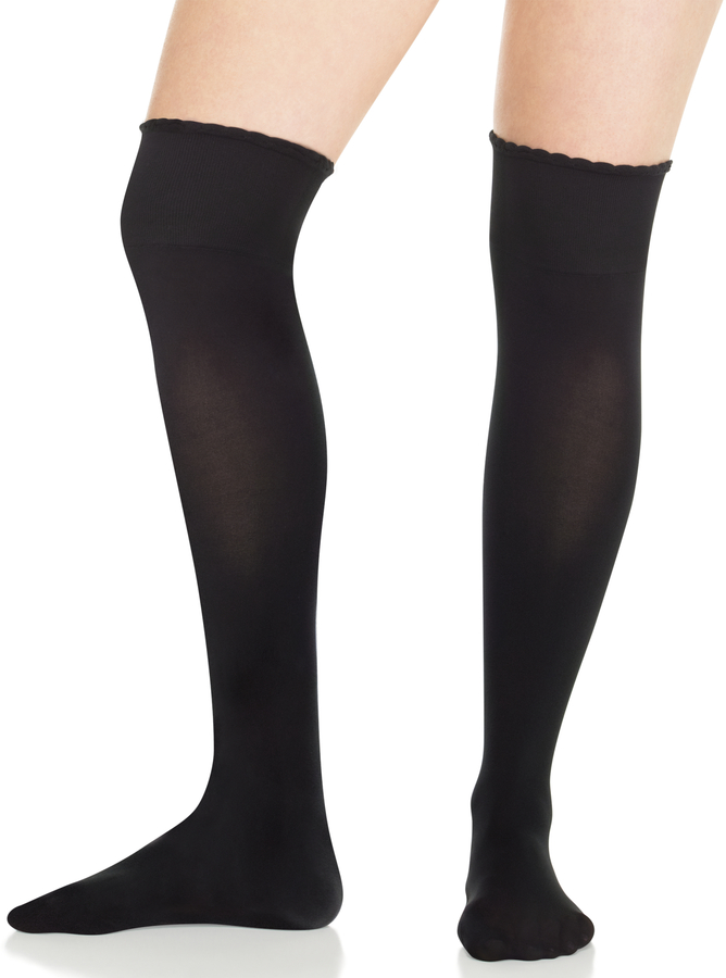 e45ee4f7a ... High Socks Spanx Get Over It Over The Knee Socks Scalloped Edge ...