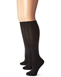 Steve Madden Legwear 3 Pack Solid Knee High Sock