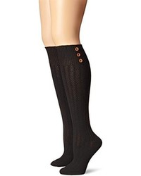 Steve Madden Legwear Button Knee High Boot Sock