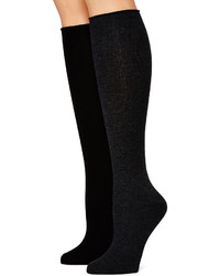 Mixit Mixit 2 Pk Roll Cuff Knee High Socks