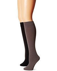Muk Luks Fleece Lined 2 Pair Pack Knee High Socks