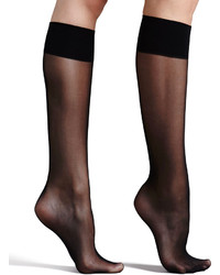 Commando Premier Sheer Basic Knee High Socks Black