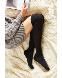 Urban Outfitters Ribbed Cuff Over The Knee Sock