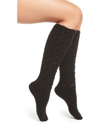 Natori Schiffli Knee High Socks