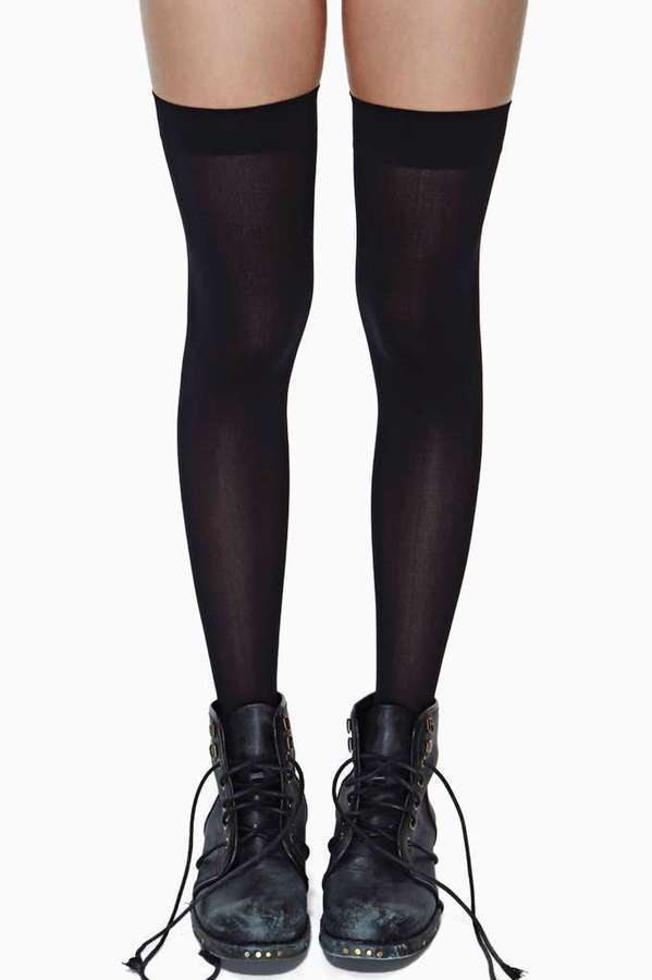 20831a894 ... Factory School Girl Thigh High Socks ...