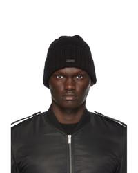 Saint Laurent Black Cashmere Beanie