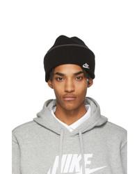 Nike Black Cuffed Logo Beanie