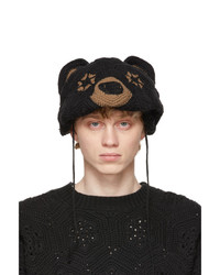 Doublet Black Hand Crochet Bear Mask Beanie