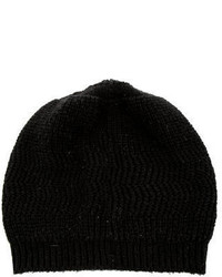 Marc Jacobs Black Knitted Beanie