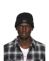 Off-White Black Wool Knit Beanie
