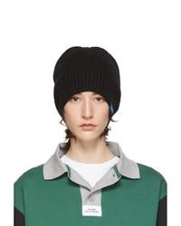 Rassvet Black Wool Logo Beanie
