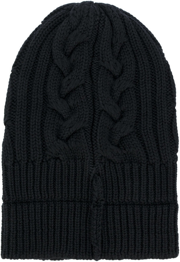 79d52191f7d ... Versace Cable Knit Beanie Hat