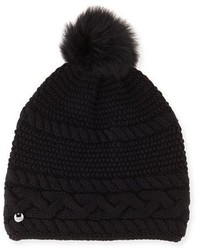 UGG Cable Knit Beanie W Pompom Black