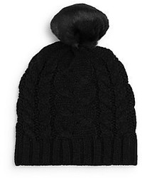 Ivanka Trump Cable Knit Faux Fur Beanie