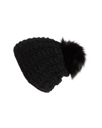 KYI KYI Genuine Fox Pompom Hat