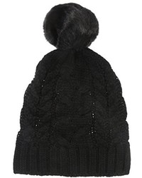 Ivanka Trump Cable Beanie With Faux Fur