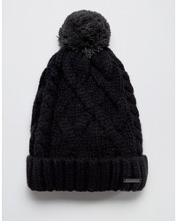 Diesel Knitted Wool Bobble Beanie