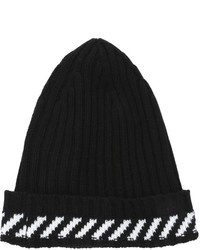 Off-White Diagonals Wool Blend Knit Beanie