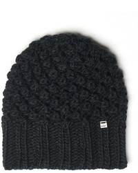 Popcorn knit beanie black medium 841063