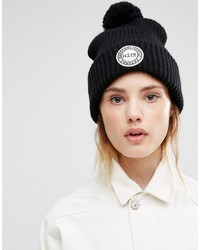 Herschel Supply Co Knitted Pom Beanie In Black