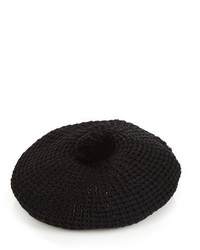 Black Knit Beret