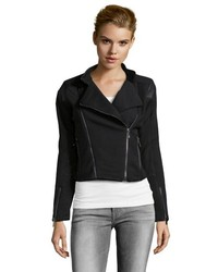 Black Knit Biker Jacket