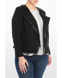 NYDJ Ponte And Faux Leather Moto Jacket In Plus