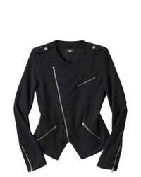 Second Skin, LLC Mossimo Ponte Moto Jacket Black Xs