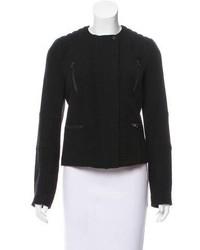 Wool knit biker jacket w tags medium 6697997