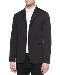 Helmut Lang Convertible Knit Blazer Black