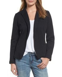 Olivia Moon Elbow Patch Knit Blazer