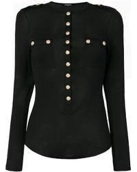 Balmain Button Embellished Knit Top