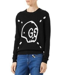 Gucci Ghost Wool Knit Top
